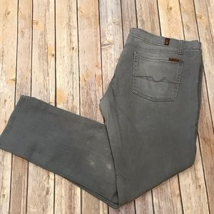 7 For All Mankind Men's Gray Denim Jeans 34 X 29